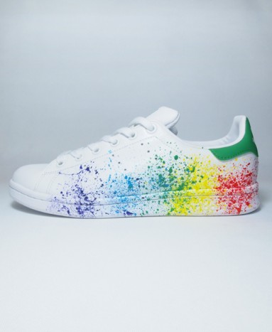 adidas superstar tache de peinture