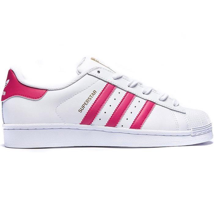 lowest price 802f9 dd86b adidas superstar rose et blanche femme