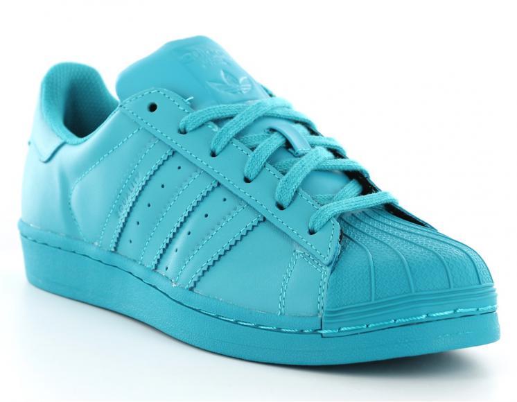 basket adidas superstar femme bleu